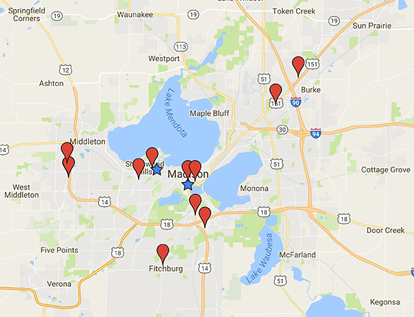 UW Hospital and Clinic Locations For Residency Program