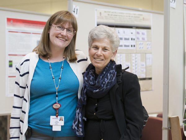 Chief resident Andrea Jones, MD, and Chair Ellen Wald, MD