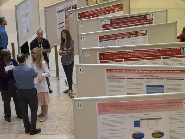 On display at the HSLC were 53 posters from residents, fellows, students and faculty.
