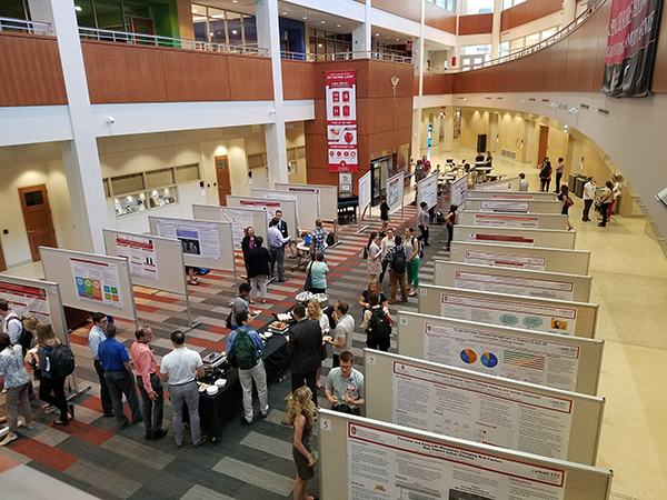 Sixty-two posters were on display in the HSLC atrium