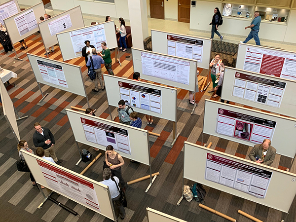 Eighty posters filled the Health Sciences Learning Center during Friday's Research Day.