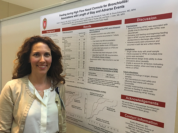 Kristin Shadman, MD, with her poster