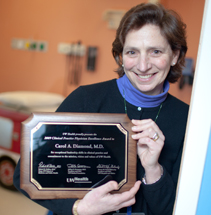 Carol Diamond, MD, was one of the first recipients of UW Health's Clinical Practice Physician Excellence award.