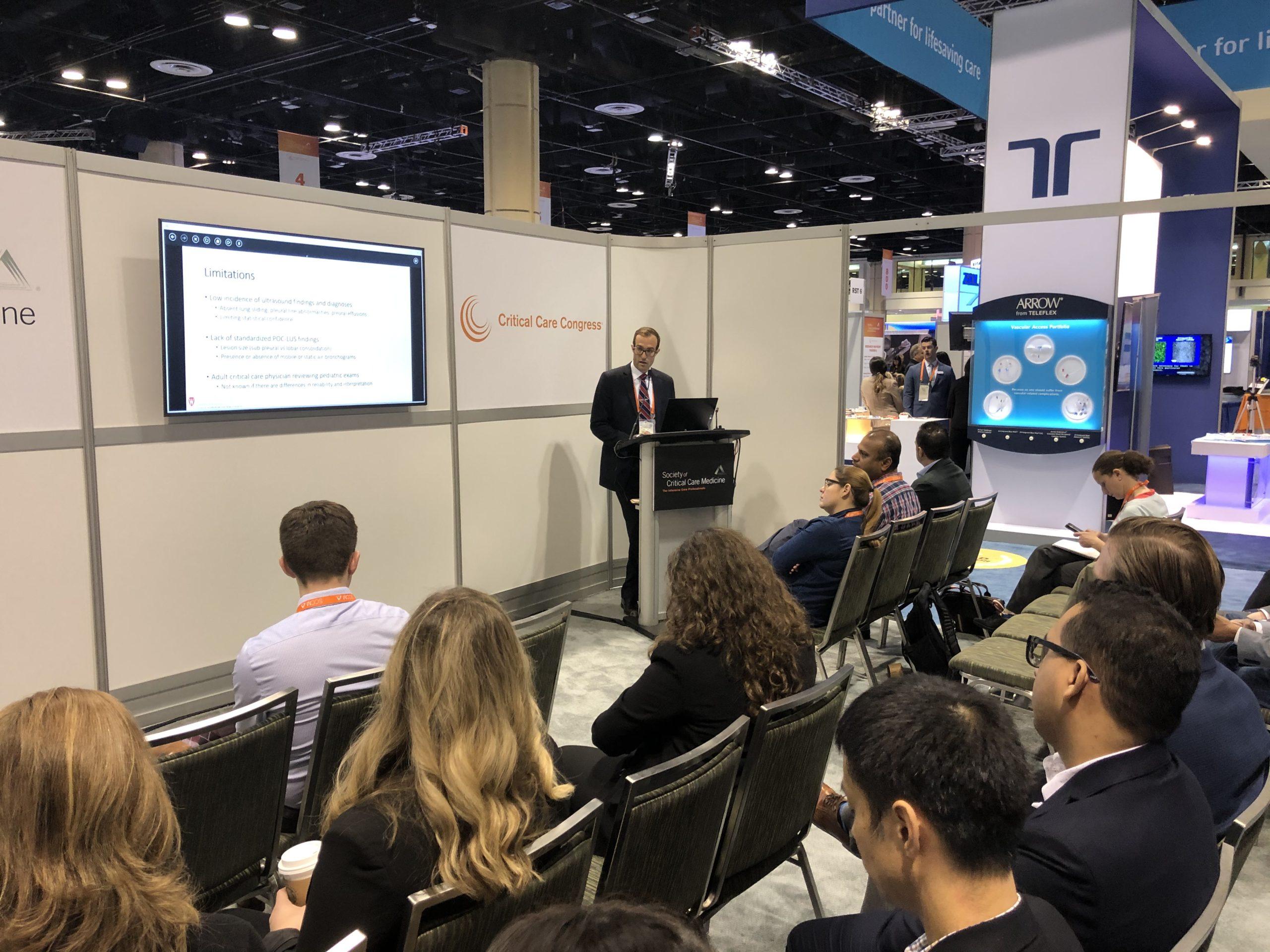 Dr. Ryan DeSanti giving a presentation
