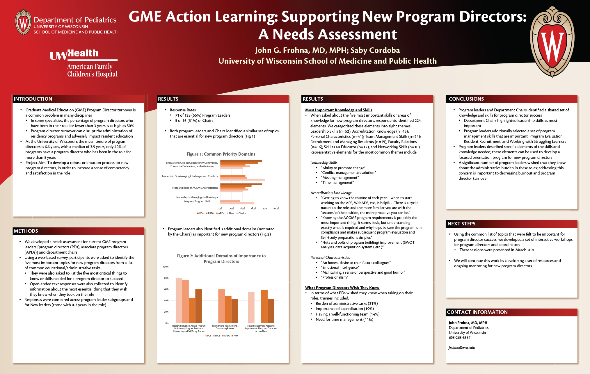 GME Action Learning: Supporting New Program Directors: A Needs Assessment poster image
