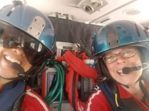 2 neonatologists in helicopter