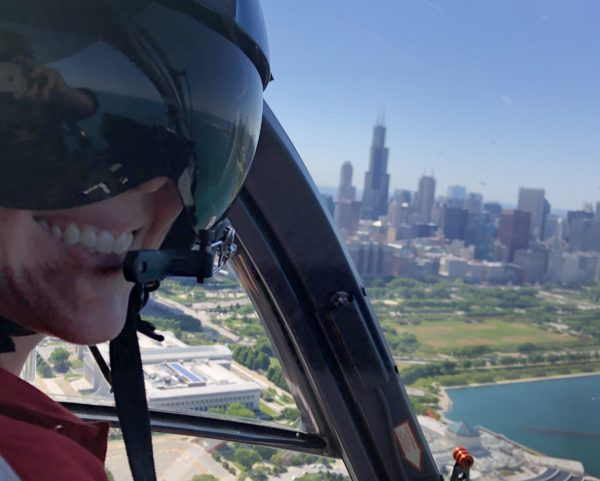 helicopter pilot in flight